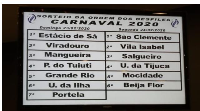 Confira a ordem do Grupo Especial RJ Carnaval 2020!