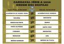Confira a ordem do desfile da Série A RJ Carnaval 2020!