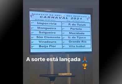 Saiu a lista dos desfiles do Carnaval 2021, confira!