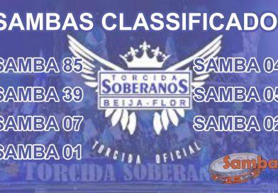 Sai Lista dos Sambas Classificados da Beija-Flor